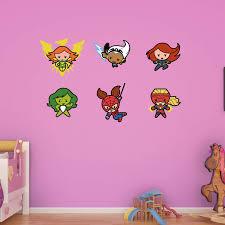 Fathead Kawaii Marvel Girl Superheroes Wall Decal Collection Walmart Com Walmart Com