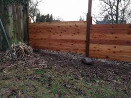 Fill Gap On Slope With Horizontal Fence Home Improvement Stack Exchange