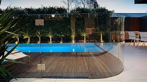 Curved Glass Pool Fence Pinned To Pool Design Fencing By Darin Bradbury Glass Pool Fencing Pool Fence Glass Pool