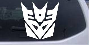 Transformers Decepticon Symbol Logo Car Or Truck Window Decal Sticker Rad Dezigns
