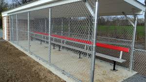 Moore Rec Center Baseball Field Tri Boro Fence Installed The Chain Link Dugouts Chain Link Fence Chain Link Fence