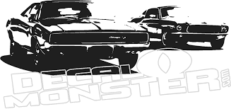 Charger Rt Mustang Car Silhouette Wall Decal Dm Decalmonster Com