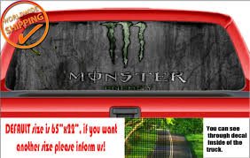 W1236 Monster Energy Drink Car Decal Sticker Rear Window Truck Suv Wrap Vinyl For Sale Online Ebay