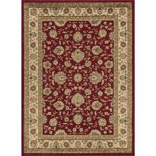red 5 ft x 7 ft traditional area rug