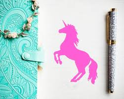 Animal Vinyl Decal Unicorn Decal Sticker Laptop Decal Lunch Etsy