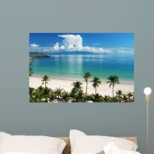Beach Scene Tropics Pacific Wall Mural Decal Sticker Wallmonkeys Peel Stick Vinyl Graphic 36 In W X 24 In H Walmart Com Walmart Com
