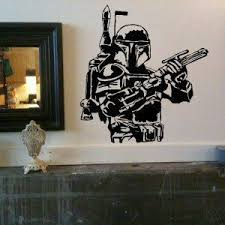Boba Fett Star Wars Large Vinyl Wall Decal Sticker By Laced Up Decals Http Www Amazon Com Dp B003zunhiy Ref Vinyl Wall Decals Wall Decal Sticker Wall Decals