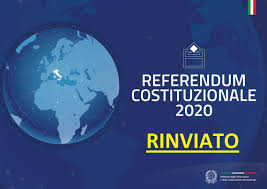 Referendum Costituzionale del 29 marzo 2020 - RINVIATO