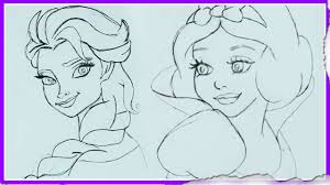 how to draw disney princesses drawing