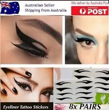 8x pairs eyeliner tattoo instant ready