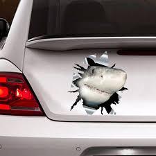 Shark Car Sticker 3d Decal Funny Sticker Etsy