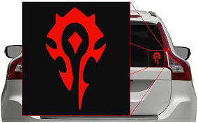 Amazon Com Horde Pick Color Wow Vinyl Transfer Sticker Decal For Laptop Car Truck Window Bumper 3in X 1 8in Red Computers Accessories