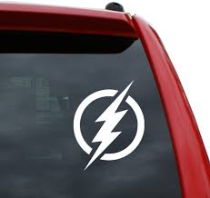 Amazon Com Black Heart Decals More The Flash Logo Vinyl Decal Sticker Color White 5 Tall Automotive