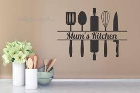Mum S Kitchen With Utensils Kitchen Wall Decals Wall Art Sticker Kitchen Wall Decals Kitchen Decor Wall Art Kitchen Wall Stickers
