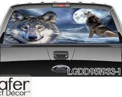 Wolf Rear Window Etsy