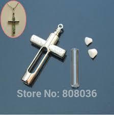 2pcs lot cross shape glass vial pendant
