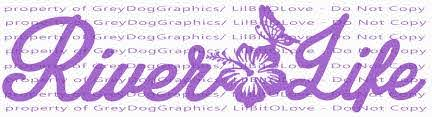 River Life Vinyl Decal With Hibiscus And Lilbitolove