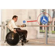 Promodor Disable Handicapped Person Blue Stickers 6 In Circular Vinyl Decals 4 Pack Pse 0106 The Home Depot