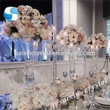 horn shape tall glass vase for wedding