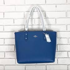 city atlantic blue crossgrain leather