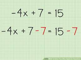solve two step algebraic equations