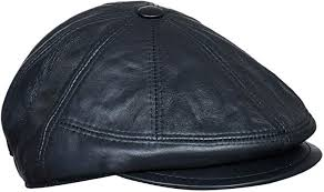 ivy newsboy real leather gatsby cap hat