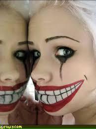 evil clown face paint faces scary