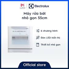 Free Lắp Đặt Từ Hãng] Máy rửa bát 8 bộ Electrolux ESF6010BW– Thiết kế nhỏ  gọn – Màu trắng hiện đại - Hàng chính hãng