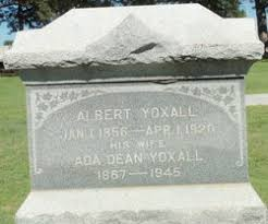 Ada Dean Yoxall (1867-1945) - Find A Grave Memorial