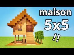 tuto maison 5x5 blocks sur minecraft