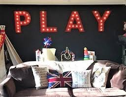 Marquee Sign Marquee Letters 4pc Personalized Play Love Wood Lighted Marquee Sign Game Room Kids Room Wedding Photo Prop Pictures Party