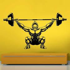 Ghost Rider Weight Lifting Bodybuilding Gym Sport Club Vinyl Wall Art Decal
