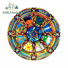 Earlfamily 13cm X 13cm For Pagan Holiday Decal Window Sticker Motorcycle Car Stickers Waterproof Car Styling Graphics Car Stickers Aliexpress
