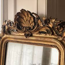 19th century french gilt leaner mirror