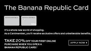 manage your banana republic credit card