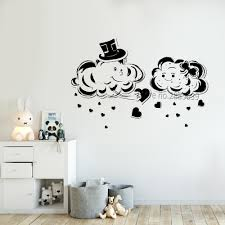 Creative Design Cute Cloud Vinyl Wall Decal Sticker Love Clouds Baby Nursery Wall Decoration Murals Removable Diy Stickers Lc812 Wall Stickers Aliexpress