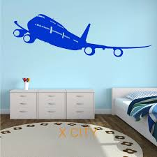 Boeing 747 Passenger Plane Aircraft Plane Aeroplane Wall Art Sticker Mural Graphic Decal Vinyl Transfer Stencils Children Decor Children Decoration Sticker Muralwall Art Stickers Aliexpress