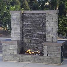 outdoor rock waterfall fountains kits