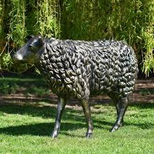 life size bronze sheep sculpture