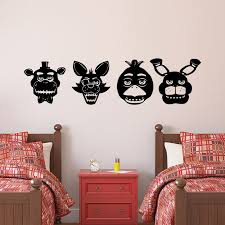 Collect All 4 Main Five Nights At Freddys Character Wall Decal Set Home Design Cricut Design