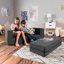 Shop Jaxx Big Kids Convertible Sleeper Sofa Ottoman Set Overstock 16604749