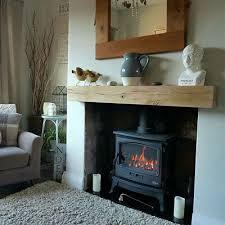 oak beam fireplace mantle floating
