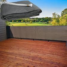 Heavy Duty Privacy Screen Fence Mesh Windscreen For Backyard Deck Patio Balcony Pool Porch Railing 3 Ft Height Black 90 500cm Wish