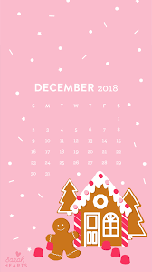 gingerbread house calendar wallpaper
