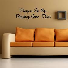 Prayers Go Up Blessings Come Down Wall Words Vinyl Wall Art Decal