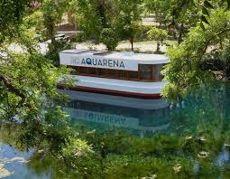glass bottom boat at aquarena springs