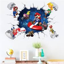 Mega Deal 7235 Cartoon Mario Bros Wall Sticker For Kids Rooms Decals Nursery Home Decor Vinyl Mural For Boy Bedroom Living Room Mural Art Cicig Co
