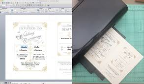 diy vine wedding invitation with