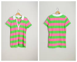 striped tropical knit short sleeve