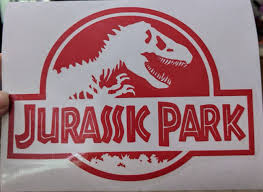 Classic Jurassic Park Logo Vinyl Decal For Car Home Electronics Jurassic Park Logo Vinyl Decals Dorm Decorations